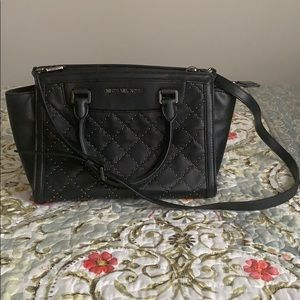 MK structures purse and crossbody black with studs